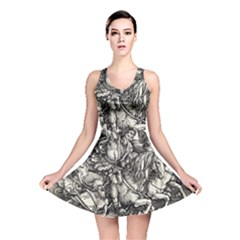 Four Horsemen Of The Apocalypse   Albrecht D¨1rer Reversible Skater Dress