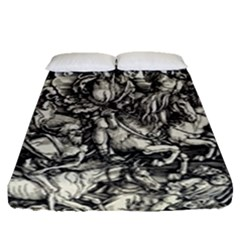Four Horsemen Of The Apocalypse   Albrecht D¨1rer Fitted Sheet (queen Size)