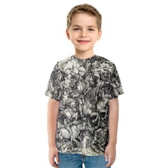 Four Horsemen Of The Apocalypse   Albrecht D¨1rer Kids  Sport Mesh Tee