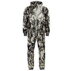 Four Horsemen Of The Apocalypse   Albrecht D¨1rer Hooded Jumpsuit (men)
