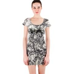 Four Horsemen Of The Apocalypse   Albrecht D¨1rer Short Sleeve Bodycon Dress
