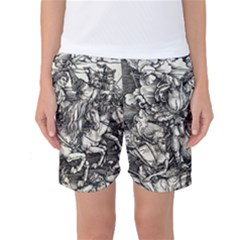 Four Horsemen Of The Apocalypse   Albrecht D¨1rer Women s Basketball Shorts