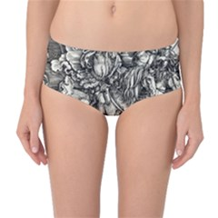 Four Horsemen Of The Apocalypse   Albrecht D¨1rer Mid Waist Bikini Bottoms