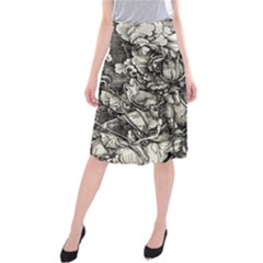 Four Horsemen Of The Apocalypse   Albrecht D¨1rer Midi Beach Skirt