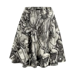 Four Horsemen Of The Apocalypse   Albrecht D¨1rer High Waist Skirt