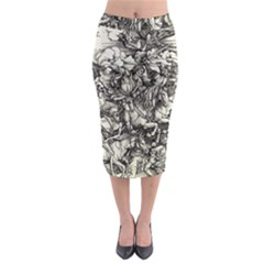 Four Horsemen Of The Apocalypse   Albrecht D¨1rer Midi Pencil Skirt