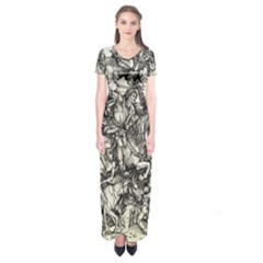 Four Horsemen Of The Apocalypse   Albrecht D¨1rer Short Sleeve Maxi Dress