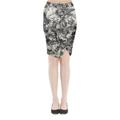 Four Horsemen Of The Apocalypse   Albrecht D¨1rer Midi Wrap Pencil Skirt