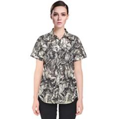 Four Horsemen Of The Apocalypse   Albrecht D¨1rer Women s Short Sleeve Shirt