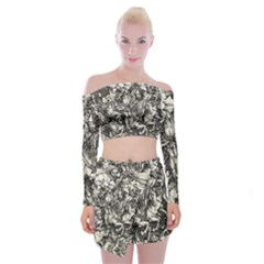 Four Horsemen Of The Apocalypse   Albrecht D¨1rer Off Shoulder Top With Mini Skirt Set