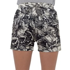 Four Horsemen Of The Apocalypse   Albrecht D¨1rer Sleepwear Shorts