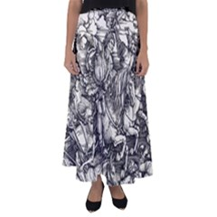 Four Horsemen Of The Apocalypse   Albrecht D¨1rer Flared Maxi Skirt