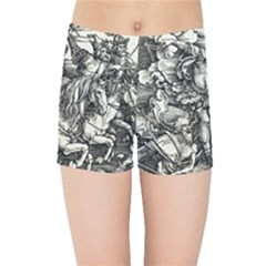 Four Horsemen Of The Apocalypse   Albrecht D¨1rer Kids Sports Shorts