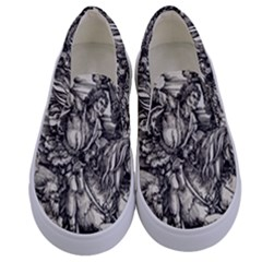 Four Horsemen Of The Apocalypse   Albrecht D¨1rer Kids  Canvas Slip Ons