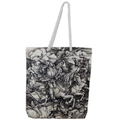 Four Horsemen Of The Apocalypse   Albrecht D¨1rer Full Print Rope Handle Tote (large)