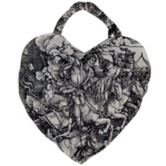 Four Horsemen Of The Apocalypse   Albrecht D¨1rer Giant Heart Shaped Tote