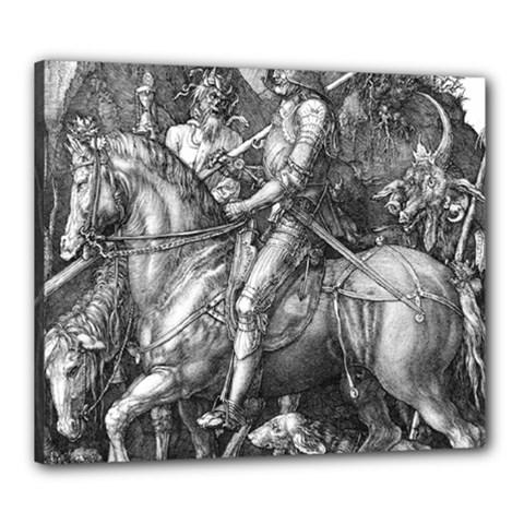 Death And The Devil   Albrecht D¨1rer Canvas 24  X 20