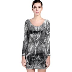 Death And The Devil   Albrecht D¨1rer Long Sleeve Bodycon Dress