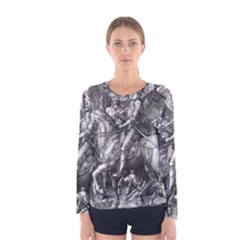 Death And The Devil   Albrecht D¨1rer Women s Long Sleeve Tee