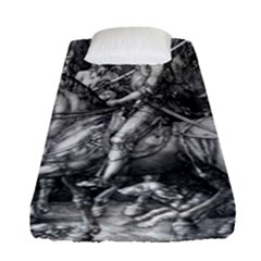 Death And The Devil   Albrecht D¨1rer Fitted Sheet (single Size)