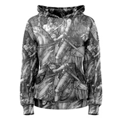 Death And The Devil   Albrecht D¨1rer Women s Pullover Hoodie