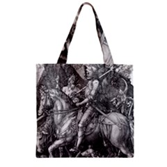 Death And The Devil   Albrecht D¨1rer Zipper Grocery Tote Bag