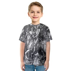 Death And The Devil   Albrecht D¨1rer Kids  Sport Mesh Tee