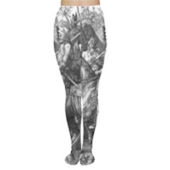 Death And The Devil   Albrecht D¨1rer Women s Tights