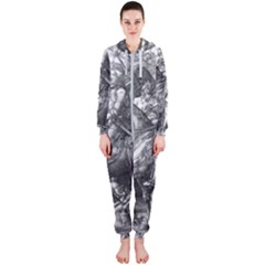 Death And The Devil   Albrecht D¨1rer Hooded Jumpsuit (ladies)