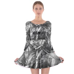 Death And The Devil   Albrecht D¨1rer Long Sleeve Skater Dress
