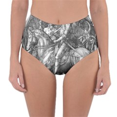Death And The Devil   Albrecht D¨1rer Reversible High Waist Bikini Bottoms