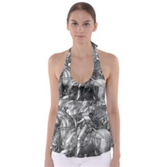 Death And The Devil   Albrecht D¨1rer Babydoll Tankini Top