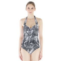 Death And The Devil   Albrecht D¨1rer Halter Swimsuit