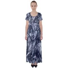 Death And The Devil   Albrecht D¨1rer High Waist Short Sleeve Maxi Dress
