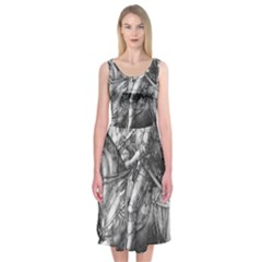 Death And The Devil   Albrecht D¨1rer Midi Sleeveless Dress