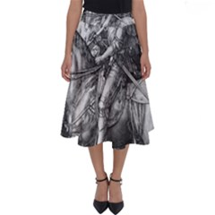 Death And The Devil   Albrecht D¨1rer Perfect Length Midi Skirt