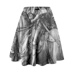 Death And The Devil   Albrecht D¨1rer High Waist Skirt