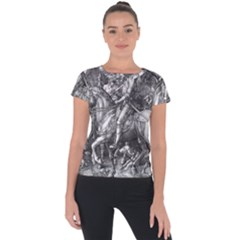 Death And The Devil   Albrecht D¨1rer Short Sleeve Sports Top