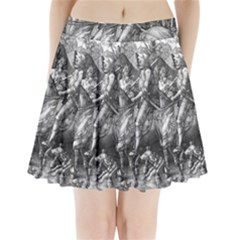 Death And The Devil   Albrecht D¨1rer Pleated Mini Skirt