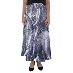 Death And The Devil   Albrecht D¨1rer Flared Maxi Skirt