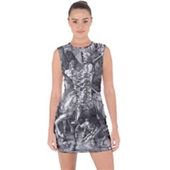Death And The Devil   Albrecht D¨1rer Lace Up Front Bodycon Dress