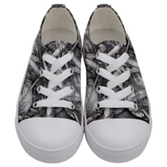 Death And The Devil   Albrecht D¨1rer Kids  Low Top Canvas Sneakers