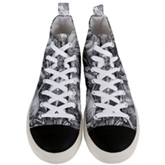 Death And The Devil   Albrecht D¨1rer Men s Mid Top Canvas Sneakers
