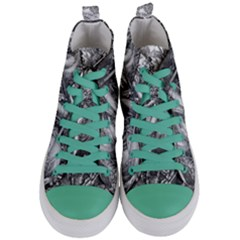 Death And The Devil   Albrecht D¨1rer Women s Mid Top Canvas Sneakers