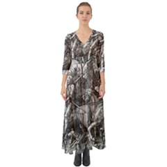 Death And The Devil   Albrecht D¨1rer Button Up Boho Maxi Dress