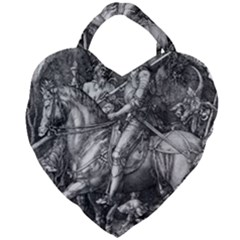 Death And The Devil   Albrecht D¨1rer Giant Heart Shaped Tote