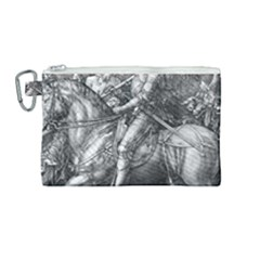 Death And The Devil   Albrecht D¨1rer Canvas Cosmetic Bag (medium)