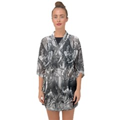 Death And The Devil   Albrecht D¨1rer Half Sleeve Chiffon Kimono