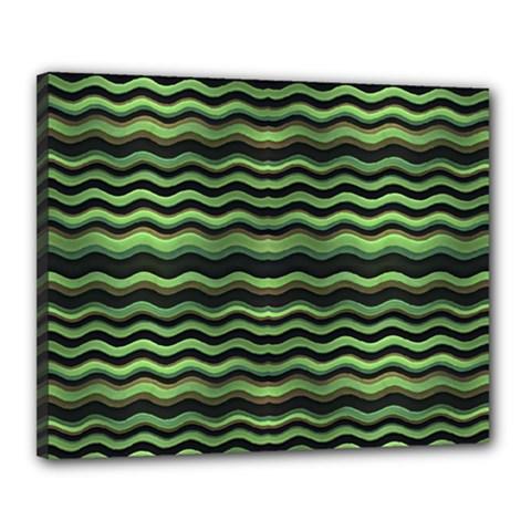 Modern Wavy Stripes Pattern Canvas 20  X 16