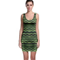 Modern Wavy Stripes Pattern Bodycon Dress